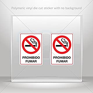 Signs No Smoking Various sizes Sticker Decal Prohibido Fumar Sign Decoration Motorbike Racing Garage (4