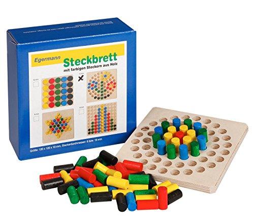 Unbekannt Egermann EH223/231 - Steckspielbrett Holzsteckspiel Kreis, Kleinkindspielzeug