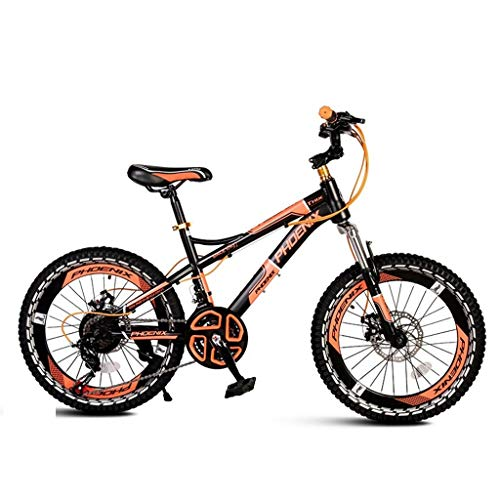 Paseo Bicicleta Portátil De 21 Velocidades Bicicleta para Niños Bicicleta De Montaña Bicicleta Plegable Bicicleta Unisex De 20 Pulgadas Rueda Pequeña (Color : Black, Size : 142 * 62 * 83cm)