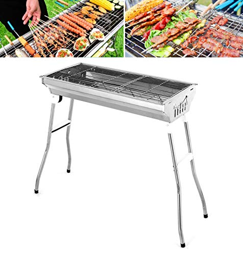 Bruce & Shark Portable Charcoal Grill Kabab Grills, Folding BBQ Stove Shish Grills Outdoor Cooking Charcoal Barbeque for Picnic, Camping, Patio Backyard Cooking - 27.95 x 12.99 x 27.95 inch