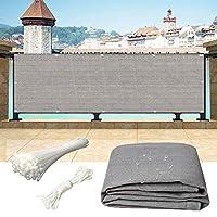 WUZMING バルコニープライバシー画面、プライバシーカバーアンチUV庭園テラス遮光ネット100%HDPEロープとケーブルタイで、50サイズ (Color : Gray, Size : 200x500cm)