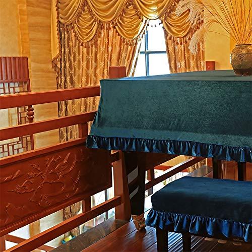 Dhl Blue Gold Velvet Piano stofbescherming Smooth driehoek dekzeil boot, 190cm