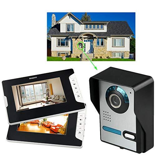 Videoportero con cámara y 2 monitores