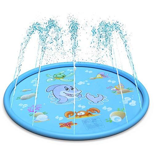WANG XIN Streuen und Spritzen Spielmatte im Freien Sommer Wasser Spiel Pad Spielzeug Schwimmen Party Geschenk for Kinder Kinder Kleinkinder Kleinkinder Jungen Mädchen Blau