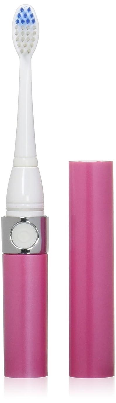 遅れかんがい気難しい音波式電動歯ブラシ ピンク 替ブラシ2本付