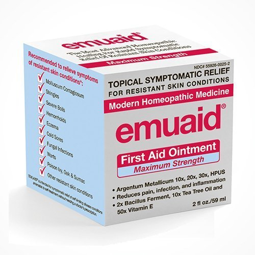 EmuaidMAX - First Aid Ointment for irritated skin, 2oz (Pack of 2)