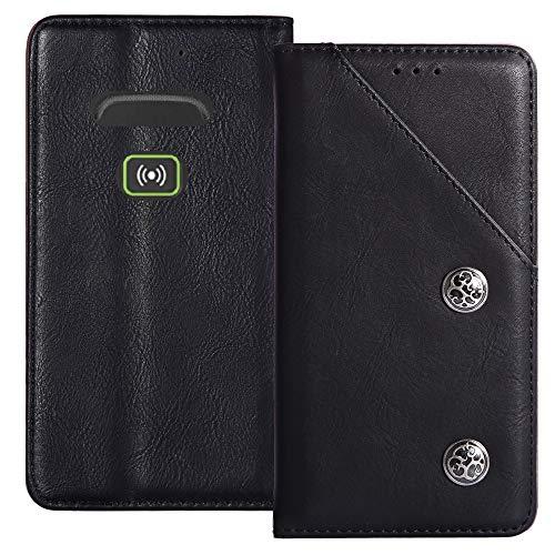 YLYT Flip Schwarz Schutz Hülle Hülle Für Doro Secure 580IUP Etui Leder Tasche Handyhülle Hochwertiges Stoßfeste Kartenfach Cover