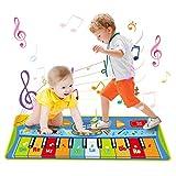 LEADSTAR Alfombra de Piano, Piano Suelo, Grande Alfombra Musical para Niños, Tapete Musical Toque Jugar Teclado de Piano Manta Musical Educativo Juguete para Bebé Niños Pequeños, 130 x 48 cm
