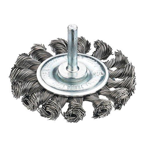 Connex Scheibenbürste gezopft, 75 mm, Stahldraht für Bohrmaschine, COM214075