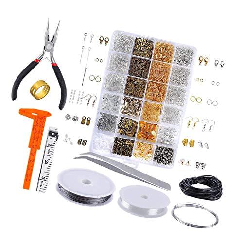 kowaku 24 Rejillas Kit de Fabricación de Joyas Resultados Alicates de Reparación de Collar para Manualidades Craftin