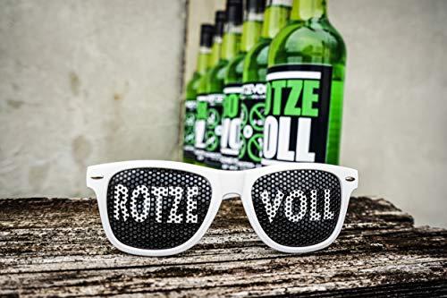 rotzevoll ® Waldmeister Likör auf Wodka Basis 6 x 0,7l Flasche 15% vol. inkl. GRATIS Partybrille