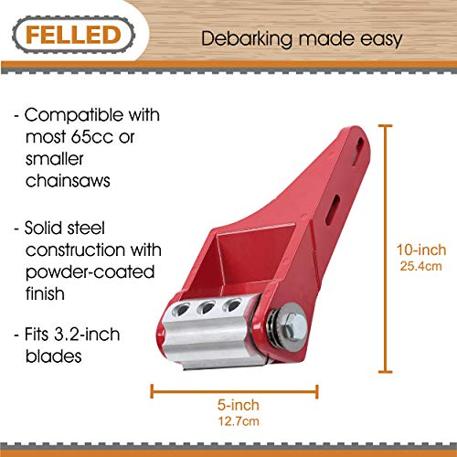Felled Chainsaw Debarker Attachment - Log Debarking Tool Chainsaw Bark Remover Debarking Tool Attachment
