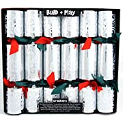 Kuckoo Crackers - 6 x 13-inch Build and Play Christmas Crackers (Metal Construction Series)