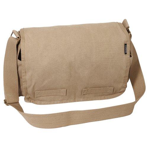 Everest Luggage Canvas Messenger, Khaki, Khaki, One Siz