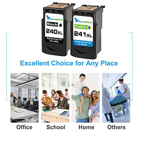 InkWorld Remanufactured 240XL 241XL Ink Cartridge Replacement for Canon PG-240 CL-241 XL to Use with Pixma TS5120 MG3620 MG3520 MX472 MG3220 MX452 MX532 MX512 MG2120 MX432 Printer (Black Color) 2-Pack Photo #2