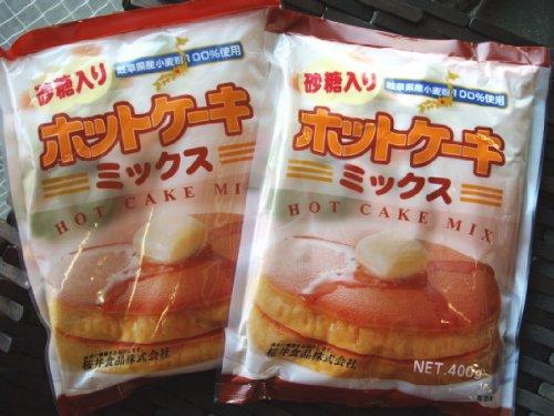 【2袋】岐阜県産小麦100%使用ホットケーキミックス(桜井食品)加糖2袋