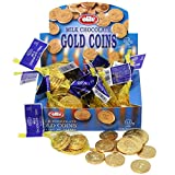 Elite Milk Chocolate Gold Coins Box of 24 Mesh Bags (0.53 oz each) Hanukkah Gelt