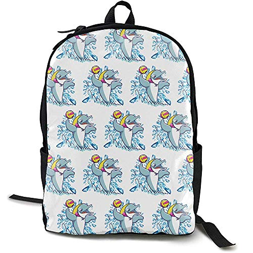 N/A Mochila de Waterpolo Dolphin Playing con Correas de
