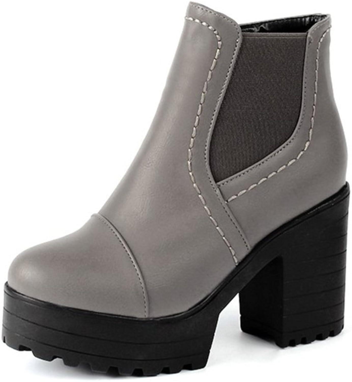 RHFDVGDS Winter Martin boots High with thick round booties and Joker short boots Joker short boots
