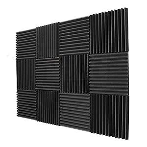 JVSISM 12 Pack- acusticos Paneles de Espuma de ingenieria Paneles cunas de Esponja de Aislamiento acustico 30 * 30 * 2.5cm