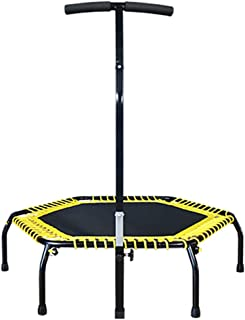 Trampoline Lxn 44'' Fitness, Silent Mini with Adjustable Handrail, Indoor for Adults and Kids, Perfect Urban Cardio Workout Home Trainer, Bungee Rope System, Max Load 400 lb