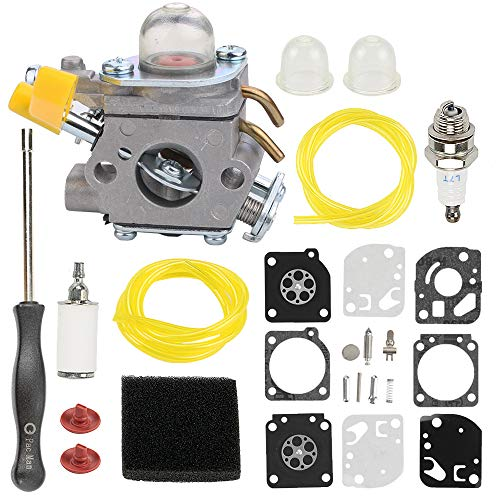 Hayskill C1U-H60 Carburetor 308054003 Carb for Homelite Ryobi 25cc 26cc 30cc String Trimmer Backpack Blower RY28100 RY28120 RY28121 RY28140 RY28141 RY28160 RY28161 UT33600 UT33650