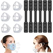 Mepsirit 6PCS 3D Mask Bracket & Mask Extender Strap Washable 3D Face Mask Inner Support Frame,Lipstick Protection and Comfortable Wearing KB06