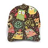VJSDIUD Gorra de Beisbol Men's Flower Owl Heart Bike Camera Baseball Cap Unisex Dad Hat Adjustable Soft Trucker Hat Black