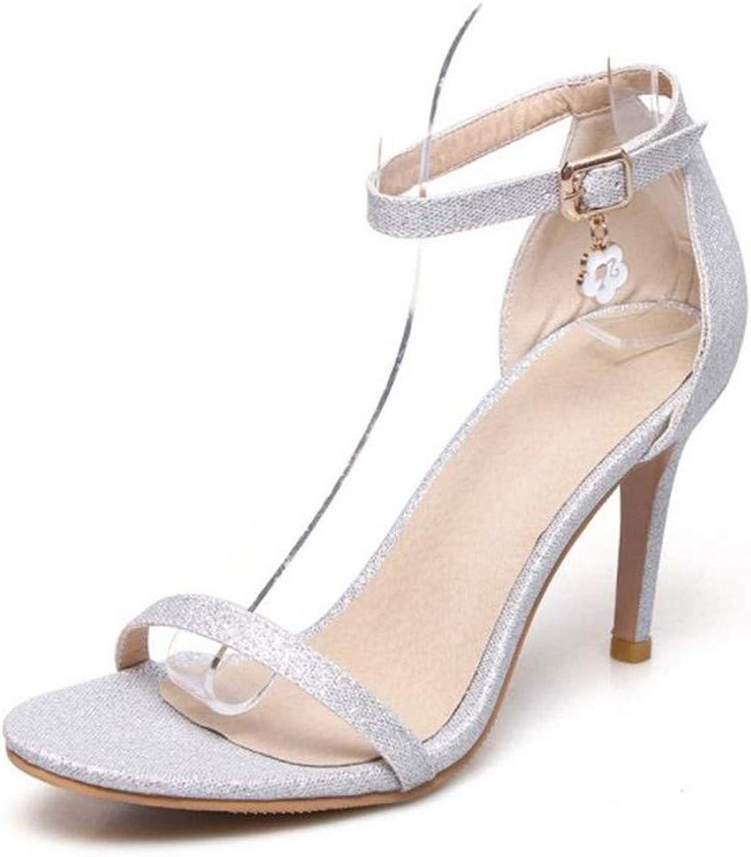 GAO-GEN1 Plus Size 32-47 Women High Heel Sandals 7 colors Buckle Women Sandals Sexy Elegant Wedding Party Footwear