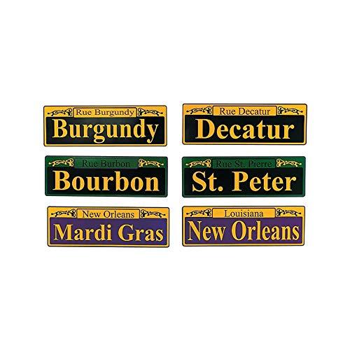 Fun Express - Mardi Gras Cardboard Cutout Signs (6pc) for Mardi Gras - Party Decor - Wall Decor - Cutouts - Mardi Gras - 6 Pieces