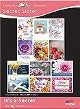 Secret Sister - All Occasion - It's A Secret - KJV and NIV Scripture Greeting Cards - (Box of 12)