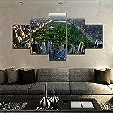 DSGER HD Art Cuadro De Pared 5 Partes Impresión Decoración Canvas Moderno Salón Decoración para Hogar Central Park Nueva York