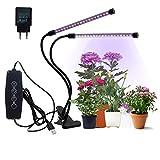 CPROSP Pflanzenlampe LED, 20W mit 40 LEDs mit Adapter Wachstumslampe für Zimmerpflanzen, mit 3 Timer 3/6/12H Automatische Ein/Ausschalten mit 5 Helligkeitmodi