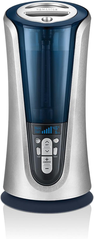 Cool & Warm Mist Tower Ultrasonic Humidifier   1.5 Gallon Tank, 65 Hour Runtime, LCD Display, Humidity Sensor   Clean Tank Technology, BONUS DEMINERALIZATION CARTRIDGE   HoMedics