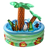 GoSlaz Inflatable Palm Tree Cooler 28 Inch, Beach Theme Outdoor Party Decorations, Blow Up Palm Trees Party Supplies for Pool, Luau and Hawaiian Party