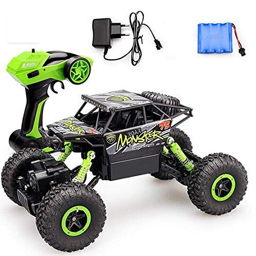 Coches de Control Remoto 2.4Ghz Radio led Buggy Impermeable Carreras de Alta Velocidad Recargable Vehículo Todoterreno eléctrico Bigfoot Camión de Escalada Juguetes educativos para niños para niños y