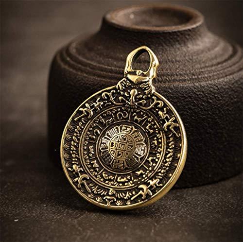 Sleutel van het messing ring hanger sterrenbeeld transport Gua Jiu Gong merk hanger ketting mannelijk Tibetaans boeddhisme zuiver koper