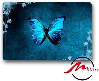 ZMvise Cool Blue Butterfly Art Non-Slip Bath Shower Area Rug Floor Door Mats Front Entry Carpet Indoor Doormat Outdoor Felt