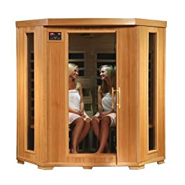 SA2420DX Tuscon Monticello 4 Person Infrared Sauna with 10 Carbon Heaters...