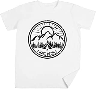 Camping I Hate People Camping Lovers Mountain Climbing Hiking Gift Shirt Niños Unisexo Chicos Chicas Blanco Camiseta Kids ...