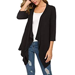 LINSINCH Womens Tops Casual Sleeveless Cape Shawl Pocket Draped Open Front Cardigan Vest Coat