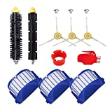 NICERE Recambios para aspiradoras Aero Vac Filtros y cepillos laterales para aspiradoras IRobot Roomba 600 Series 620 630 650 660 680 (color: SMT105)