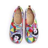 UIN Mujer Mocasines Plataforma Casual Loafers Plano Casual Cómodo y Antideslizante Zapatillas para Mujer Zapatos del Barco Rainbow Goddess 40