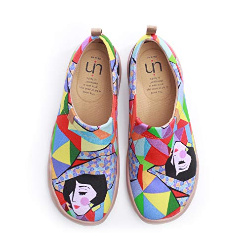 UIN UIN Regenbogen Madchen Damen Canvas Slip-on Schuhe Mehrfarbig(35)