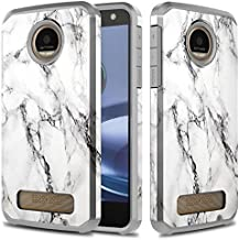 Moto Z Play Case, Moto Z Play Droid Case, TownShop Marble Pattern Design Hard Impact Dual Layer Shockproof Bumper Case for Motorola Moto Z Play/Motorola Moto Z Play Droid