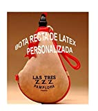 Las Tres Z.Z.Z. Bota de Vino clásica Recta látex- Personalizada - 2 litros