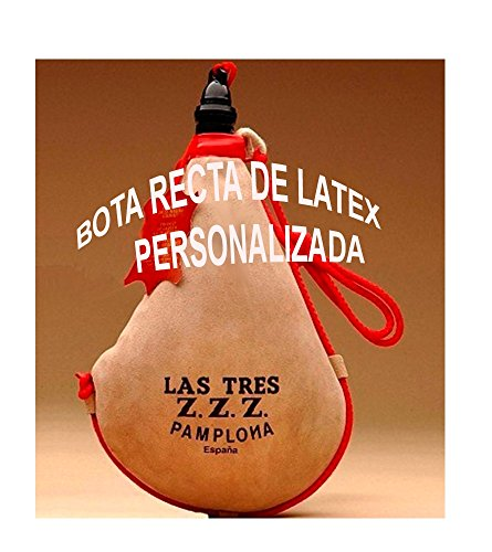 Las Tres Z.Z.Z. Bota de Vino clásica Recta látex- Personalizada - 1,5 litros