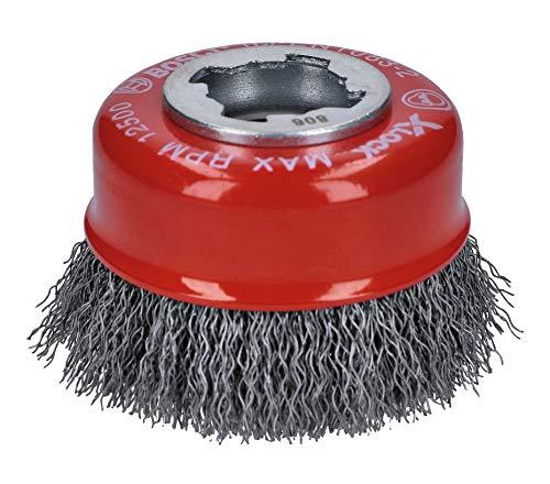 Bosch Professional gewellte Topfbürste Clean (für Metall, X-LOCK, Ø 75 mm, Drahtstärke 0,3 mm, für Ø125 mm)