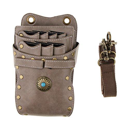 Gürteltasche, Friseur Werkzeugtasche Haarschere Tasche Scherentasche, Täschen, Gürtel, Premium Qualität aus PU Leder