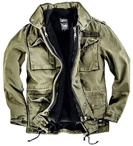 Black Premium by EMP Army Field Jacket Männer Winterjacke Oliv XL 100% Baumwolle Basics